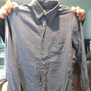 Canali Shirts - Men's dress shirt in L flannel blue checkered